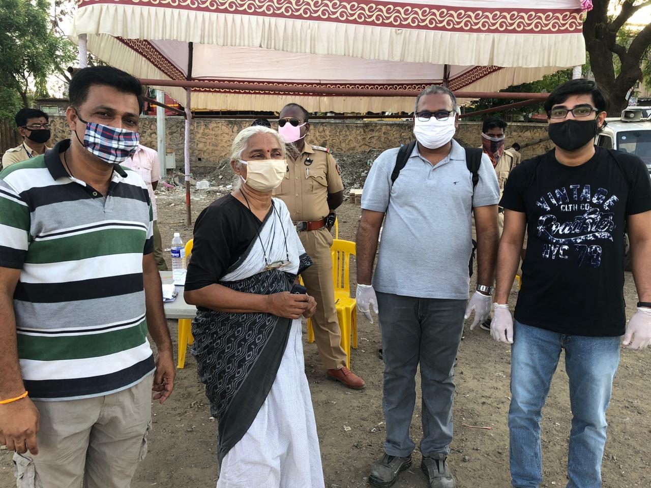 Medhaji Patkar, Visit to Wagholi – Pune