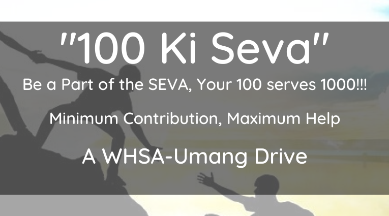 100 ki Seva – A WHSA Umang Drive